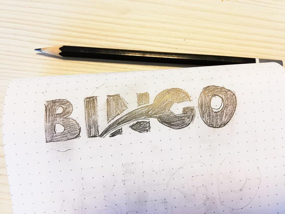 Bingo Service logo rajz