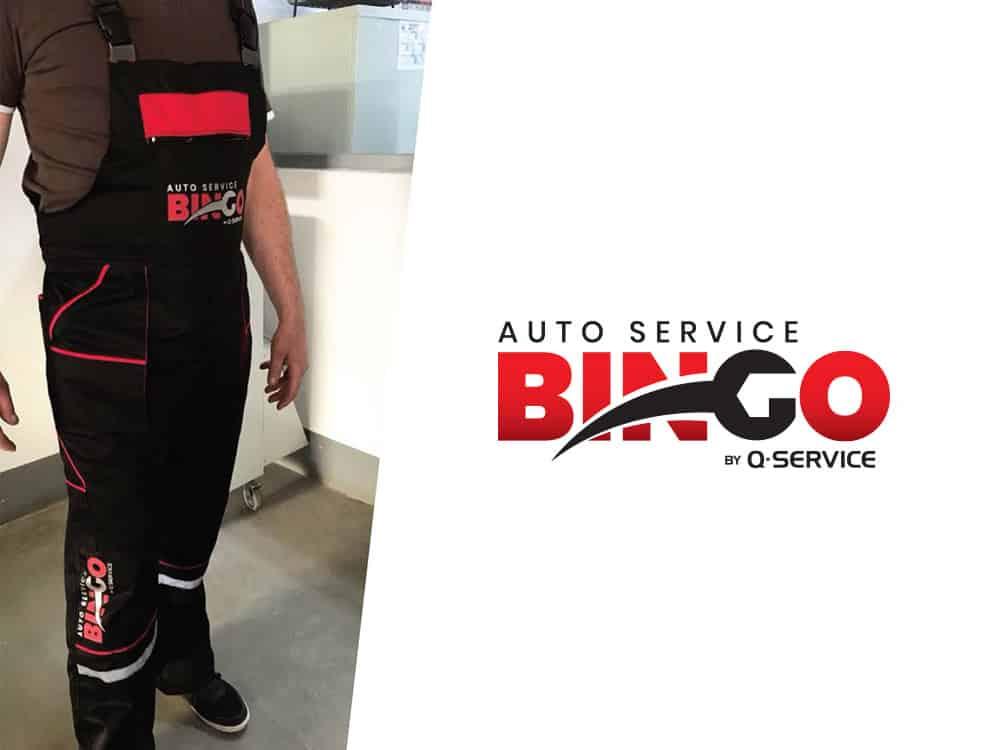 Bingo Service logo tervezes